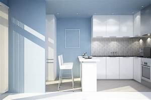 Feel a brand new kitchen with these popular paint colors for Kitchen colors with white cabinets with blue framed wall art