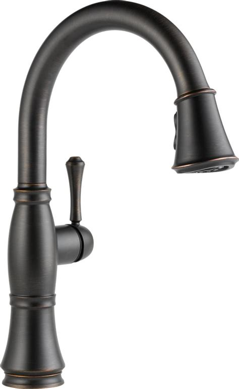 kitchen faucet amazon delta faucet 9197 ar dst cassidy single handle pull