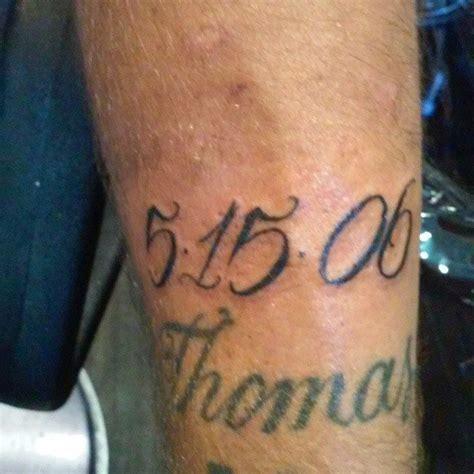 tatouage date de naissance preuve damour