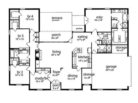 5 bedroom 4 bathroom house plans floor plan 5 bedrooms single five bedroom tudor