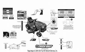 Troy Bilt 13wn77bs011 Pony  2017  Parts Diagram For Label Map