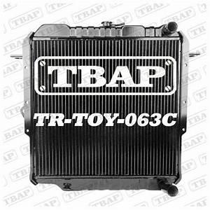 4 Row Brass Copper Radiator Toyota Landcruiser 75 Series