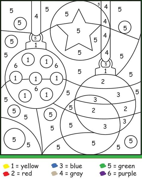 Christmas Ornaments Color By Number See the category to