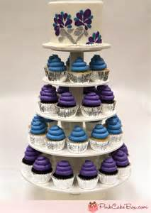 Purple Sweet 16 Cake and Cupcakes