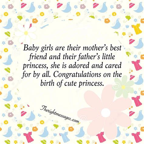 born baby girl wishes   messages