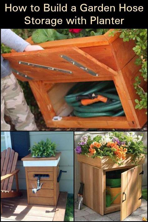 build  garden hose storage  planter