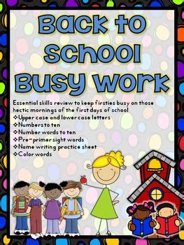 school busy work pack   graders