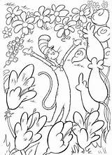 Seuss Coloring Dr Pages Printable Getcolorings sketch template