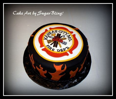 ideas  firefighter grooms cake  pinterest