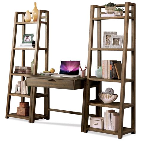 Leaning Bookcase With Drawers by Riverside Furniture Perspectives Leaning Bookcase With 5