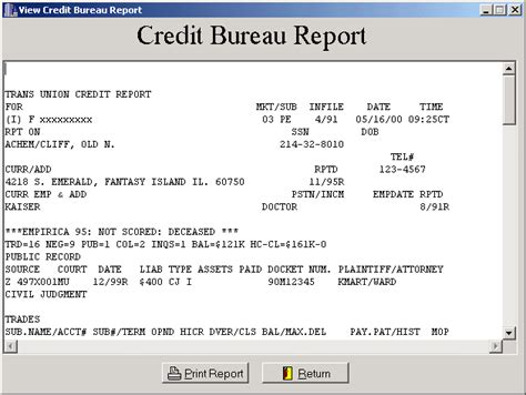 credit report three