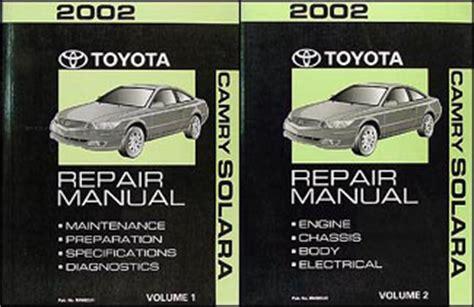 car repair manuals download 2002 toyota solara electronic toll collection 2002 toyota camry solara wiring diagram manual original