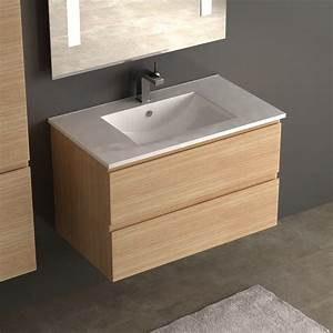 best meuble vasque metal et chene gallery amazing house With salle de bain design avec vasque 50 cm