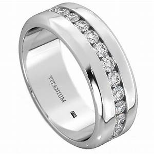 mens titanium wedding engagement band ring With mens titanium wedding rings with diamonds