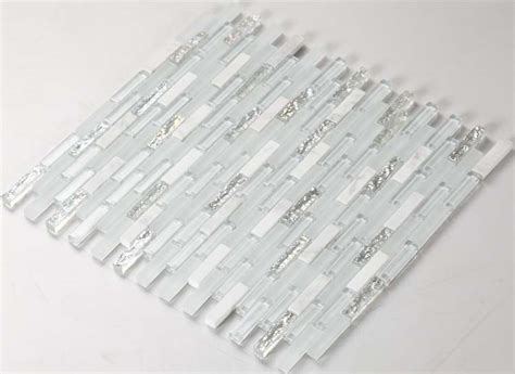wholesale stone  frosted crystal mosaic tile sheet