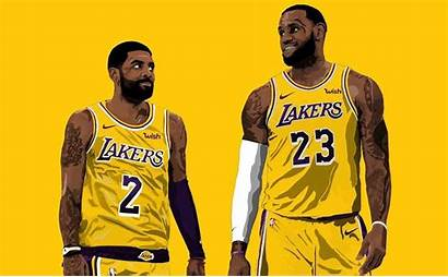 Kyrie Lakers Lebron James Basketball Irving Nba