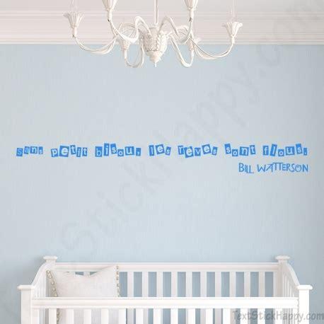 stickers phrase chambre bébé décoration chambre de bébé stickers décalcomanie