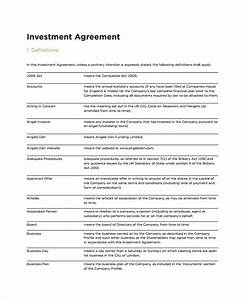 Small business investment agreement template fbccfo Image collections