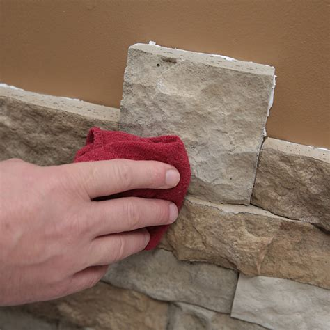 Fireplace Switch by Install Faux Stone Veneer