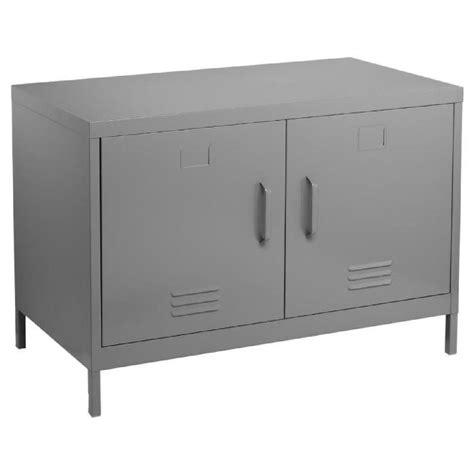 meuble bas de bureau meuble console buffet bas de rangement 2 portes coloris