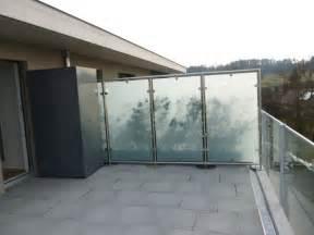 balkon glaswand sichtschutz balkon panther glas ag