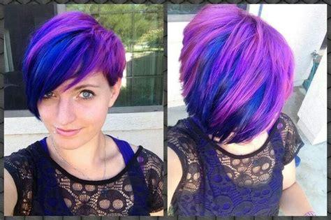 short haircuts  purple  haircut web