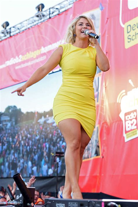 beatrice egli   short yellow dress   radio