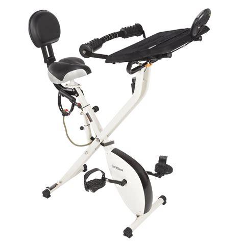 Recumbent Bike Desk by Fitdesk X1 Folding Exercise Bike With Sliding Desk