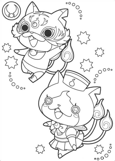 yo kai  coloring pages coloring pages