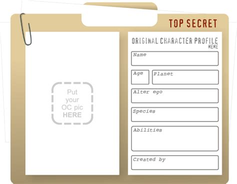 character profile template original character profile by rickcelis on deviantart