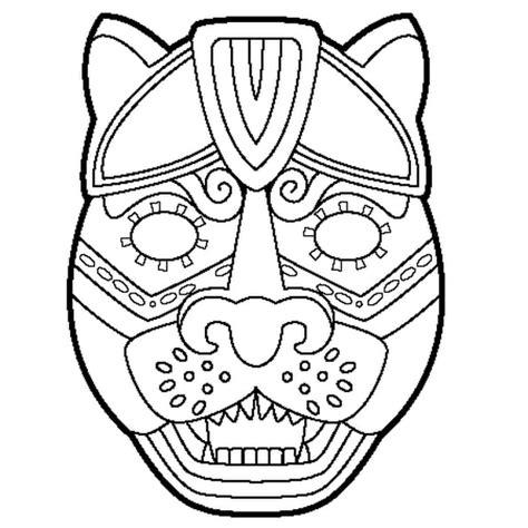 Masque De Jaguar  Coloriage Masque De Jaguar En Ligne
