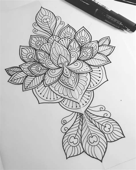 Lotus and peacock feather design for Alexandra #tattoo #tattoodesign… | Peacock feather tattoo