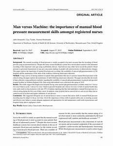 Pdf  Man Versus Machine  The Importance Of Manual Blood