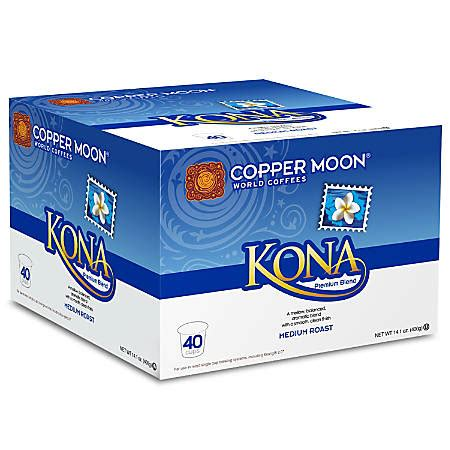 Office Depot Kona by Copper Moon Coffee Single Serve Cups Kona 16 22 Oz Pack Of