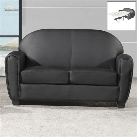 canape convertible cuir 2 places canap 233 club convertible simili cuir 2 5 places style design lounge kansas port offert