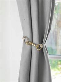 curtain tie back ideas Unique Drapery Tiebacks | Driven by Decor