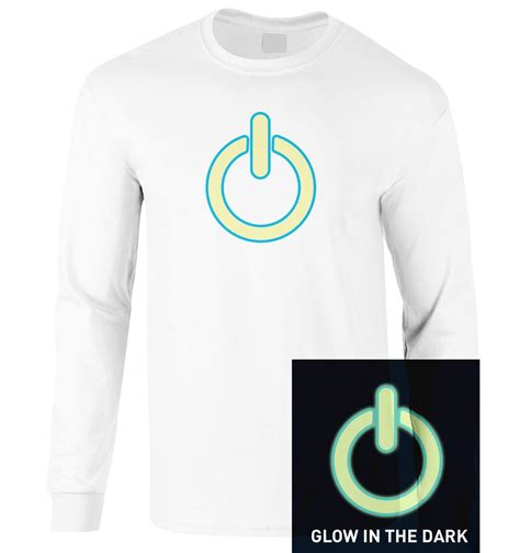 glow in the power symbol sleeved t shirt