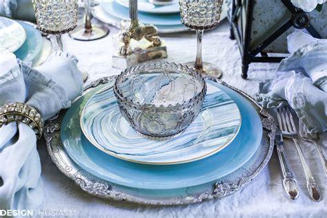 dinnerware coastal seaside decor table setting summer patterns beach designthusiasm unusual than suggest flowing watery blues feel