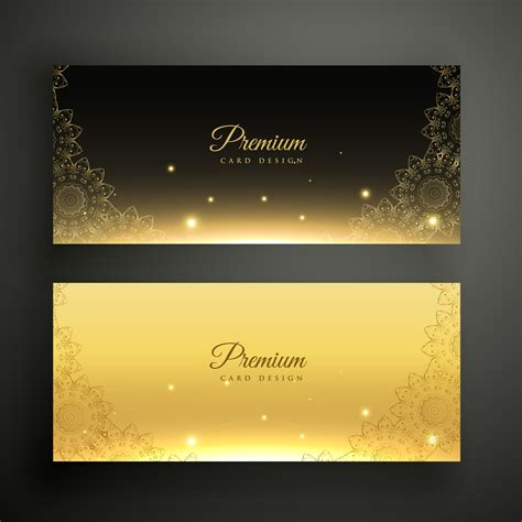 black  golden ornamental decoration banners