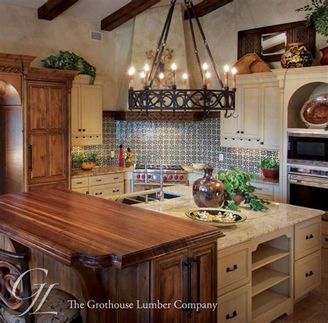 Wood Countertops in Florida for a Raised Kitchen Island