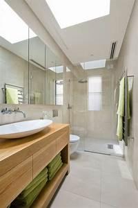 Salle De Bain En Bois : la salle de bain avec douche italienne 53 photos ~ Teatrodelosmanantiales.com Idées de Décoration