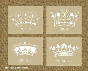Home Decor Prints of a King, Queen, Prince, and Princess ...