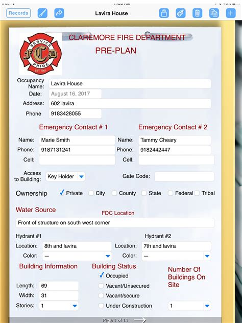 fire department  formconnect app  emergency pre
