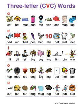 cvc word charts  donalds english classroom teachers