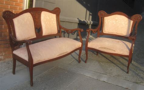 Settee And Chair Set by Uhuru Furniture Collectibles Sold Settee