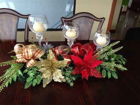 centro mesa comedor navidad lamparas navidad adornos