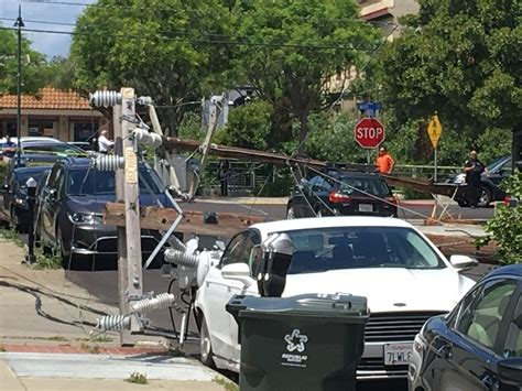 downed power pole blocks martinez streets  outage