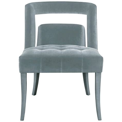 european modern velvet and nickel studded naj dining chair