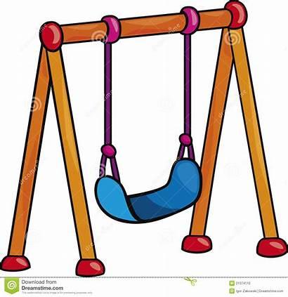 Swing Clipart Playground Illustration Cartoon Apple Garden
