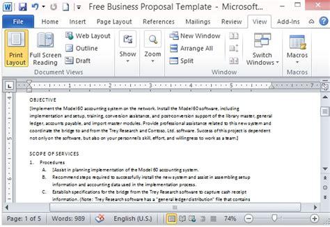 business proposal template microsoft free business template for microsoft word